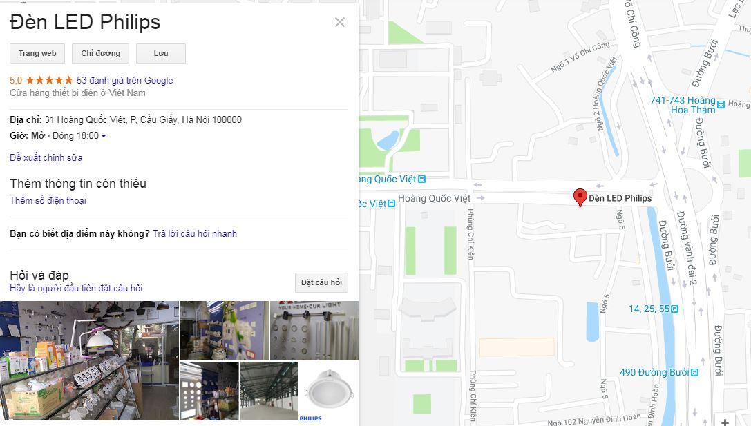 Địa chỉ bảo hành đèn led philips tại Hà Nội