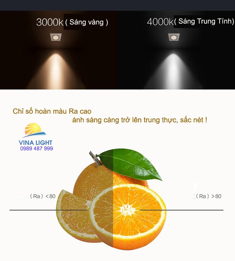 Ánh sáng của Đèn led chiếu điểm vuông GD100 1x6w Philips