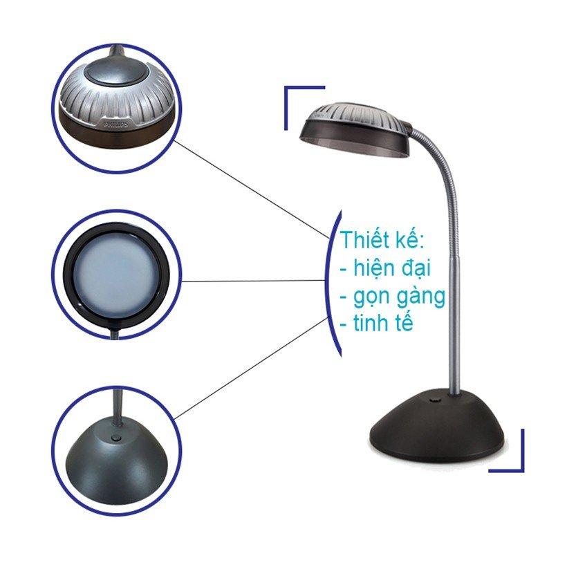 Thiết kế của đèn bàn Led Kapler 66027 4.6w Philips