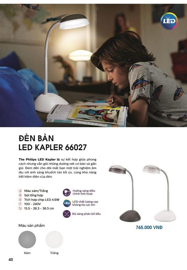 Công nghệ đột phá của đèn bàn Led Kapler 66027 4.6w Philips
